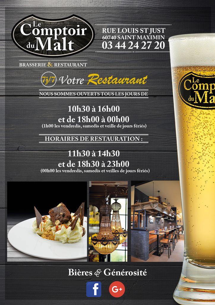 Restaurant Le Comptoir du Malt à SaintMaximin